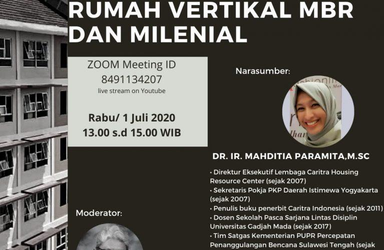 Rumah Vertical MBR dan milenial